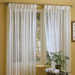 Gold Kitchen Faucet Painting Linen Sheer Curtain Custom Solid White Window Treatment