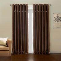 Polyester Blackout Curtian Dark Brown Custom Curtain - 633