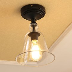 Kitchen Flush Mount Ceiling Lights White Hutches For Lighting - Semi Mounts American Country Style ...