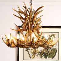 Lighting - Ceiling Lights - Chandeliers - Faux Antler ...