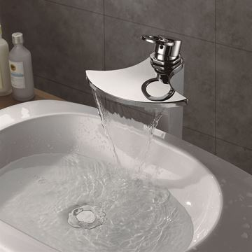 Beautiful Face Basin Waterfall Sink Water Faucet Bathroom