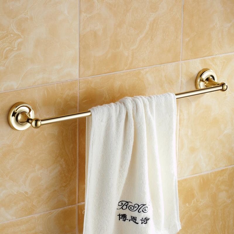 Modern Bathroom Accessories Ti Pvd Towel Rack Brass Towel Bar