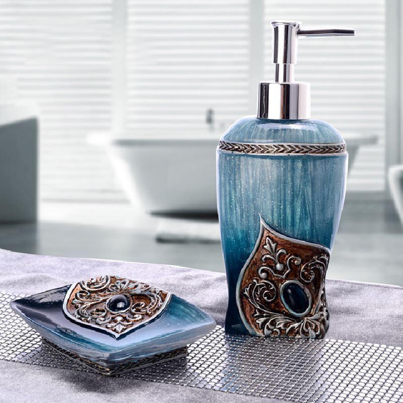 Bathroom  Bath Ensembles  Baroque 3D Relief Resin Bath