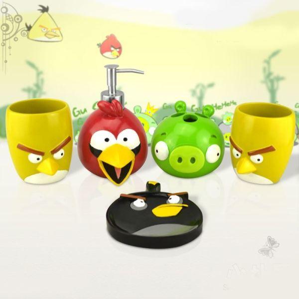 Bathroom - Bath Ensembles Cartoon Angry Birds Creative Resin 5-piece
