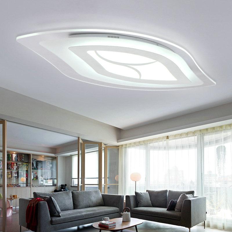 Moderne Deckenleuchte Modern Blatt Design im Wohnzimmer