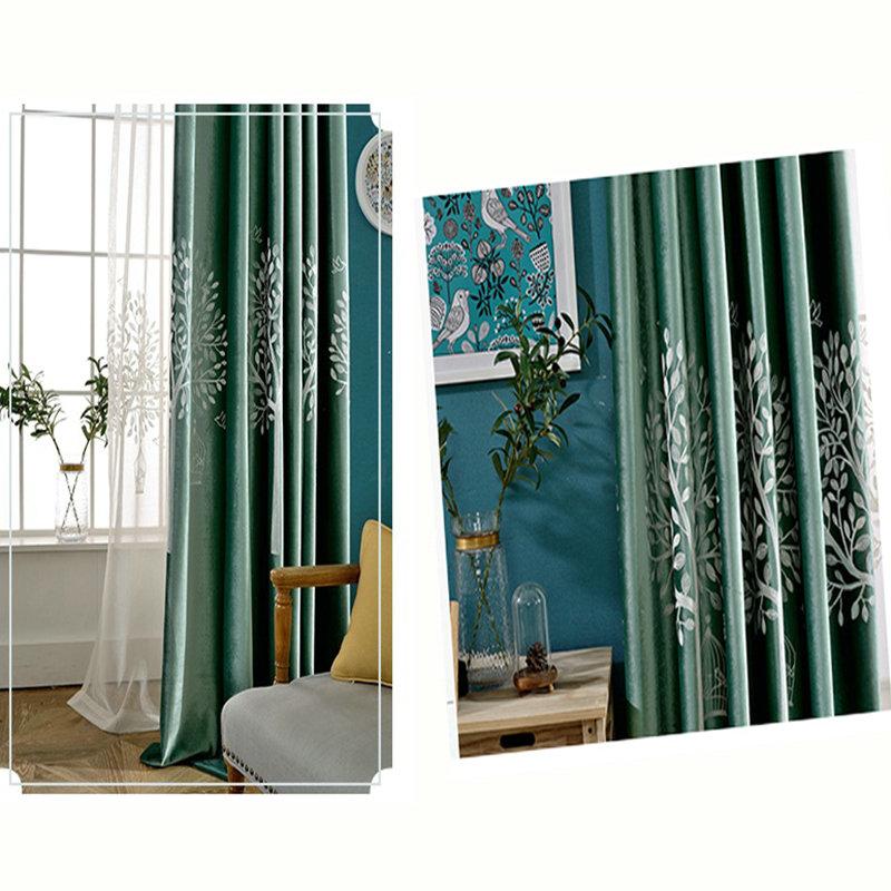 Wohnzimmer Vorhang Grun  Wohndesign