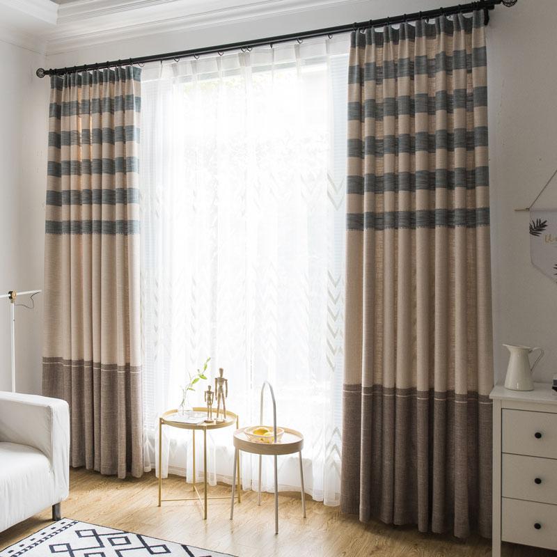 Landhaus Vorhang Streifen Design im Wohnzimmer