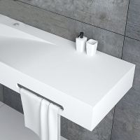 Modern Waschbecken Rechteckig mit Handtuchhalter Weiß ...