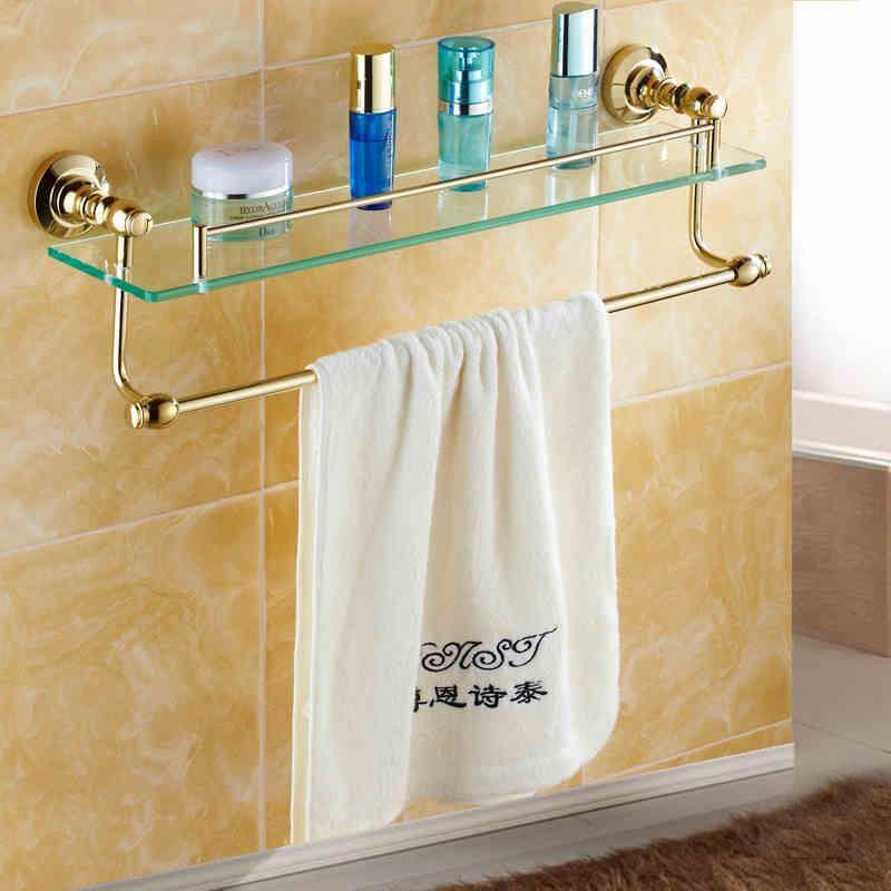 Badregal Glas TiPVD Gold Kupfer Modern Badezimmer Garnitur mit groer Auswahl