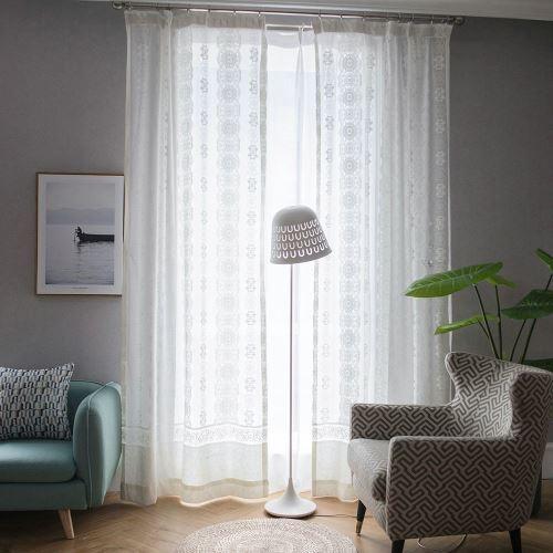 voilage jacquard simple pour chambre a coucher salon moderne