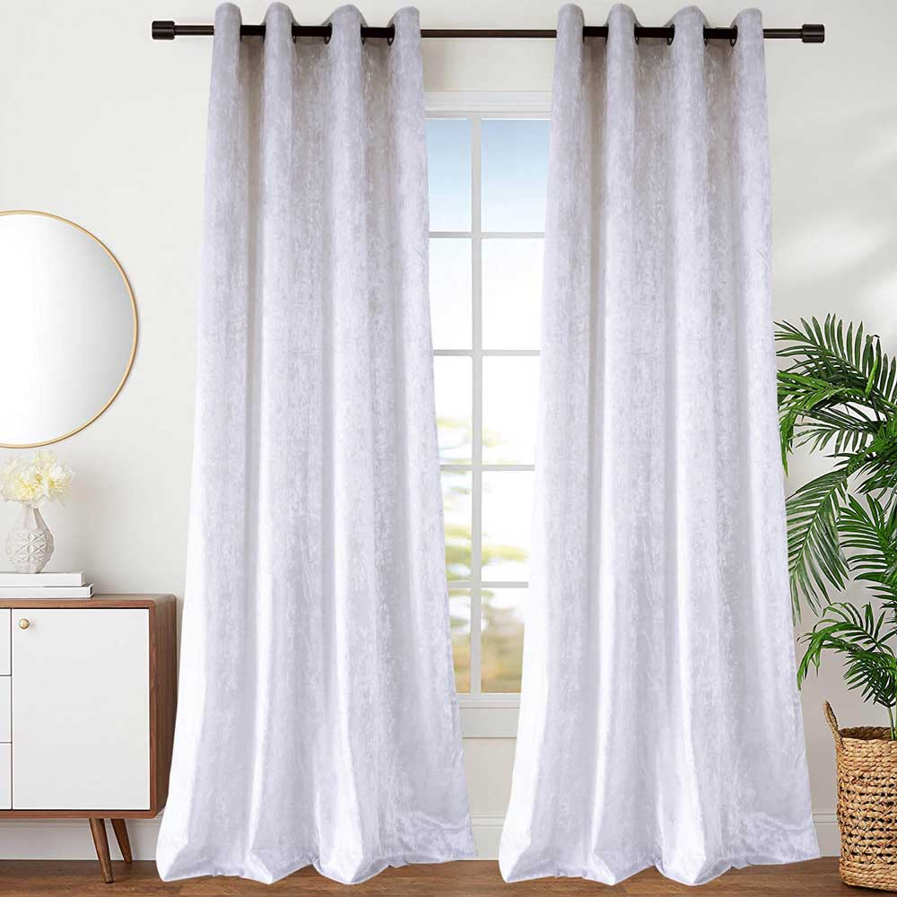 rideau tamisant en polyester coton