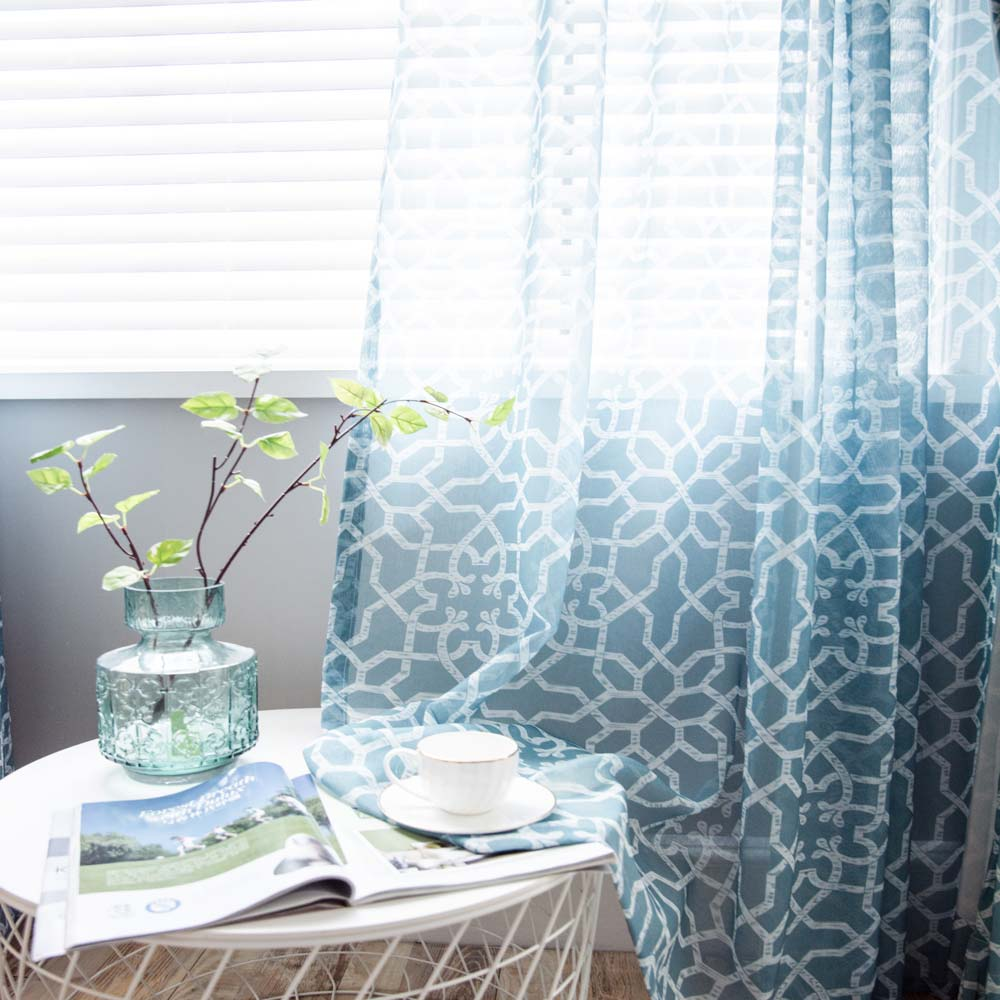 bleu en polyester pour chambre a coucher