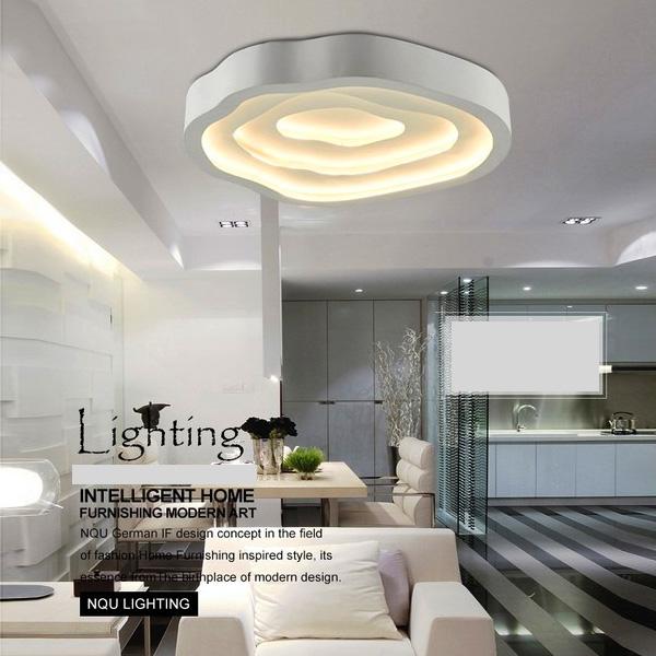 LED Plafonnier Acrylique D 52 Cm En Forme De Nuage Pour