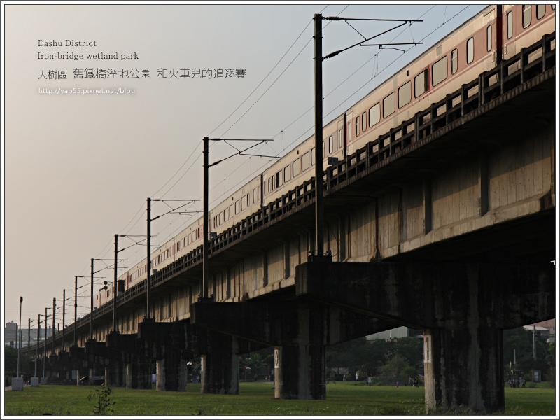 【旅遊】高雄大樹區|舊鐵橋溼地公園和火車兒的追逐賽