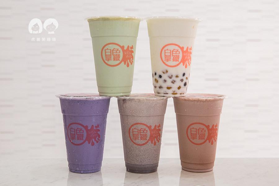 白色拿鐵(鳳山美食)冰塊用鮮奶做的,人氣必喝OREO拿鐵,波霸芋圓綜合口味(已歇業)
