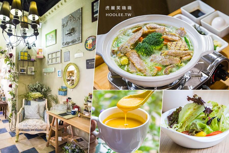 馫䬯鈊複合式餐廳(高雄)歐風童話花園!聚餐推薦,必點一鍋兩吃霜降豬肉陶鍋