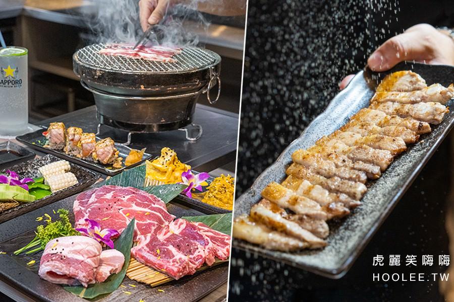 1928燒肉總鋪 文山店(高雄)鳳山聚餐推薦!專人桌邊現烤服務,輕鬆吃烤肉海鮮和鮭魚壽司捲