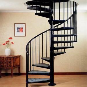 Indoor Outdoor Powder Coated Black Metal Spiral Staircase Price | Metal Spiral Staircase Prices | Treads | Wrought Iron | Stair Case | Steel Spiral | Stair Treads