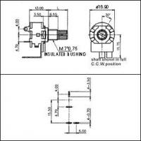 Rotary Volume Control Switch In-Wall Speaker Control