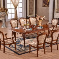 European style luxury extended dining table set of item ...
