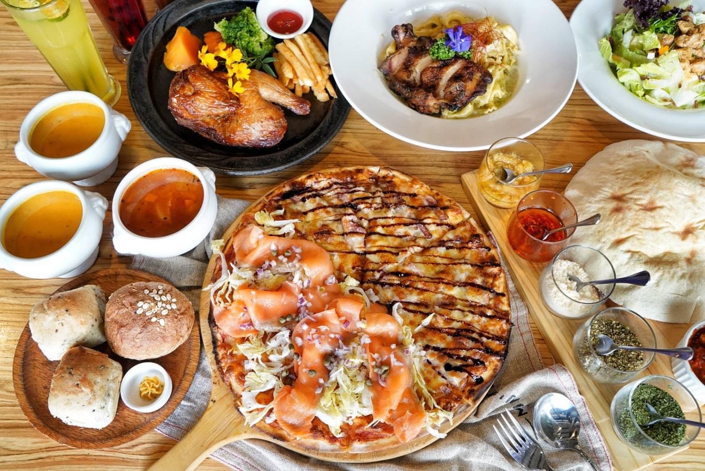 【台中美食】Milano米蘭街義式小館位於中科商圈 有多款手工義大利麵條,還有美味的現烤雙拼披薩!
