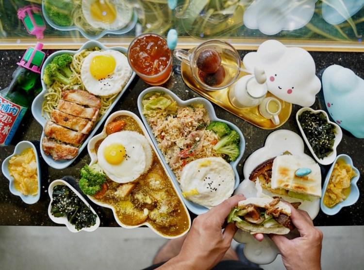 【台北美食】捷運南京三民站美食推薦『Mr.雲創意食堂』,雲朵造型餐點好拍又好吃且價格便宜!
