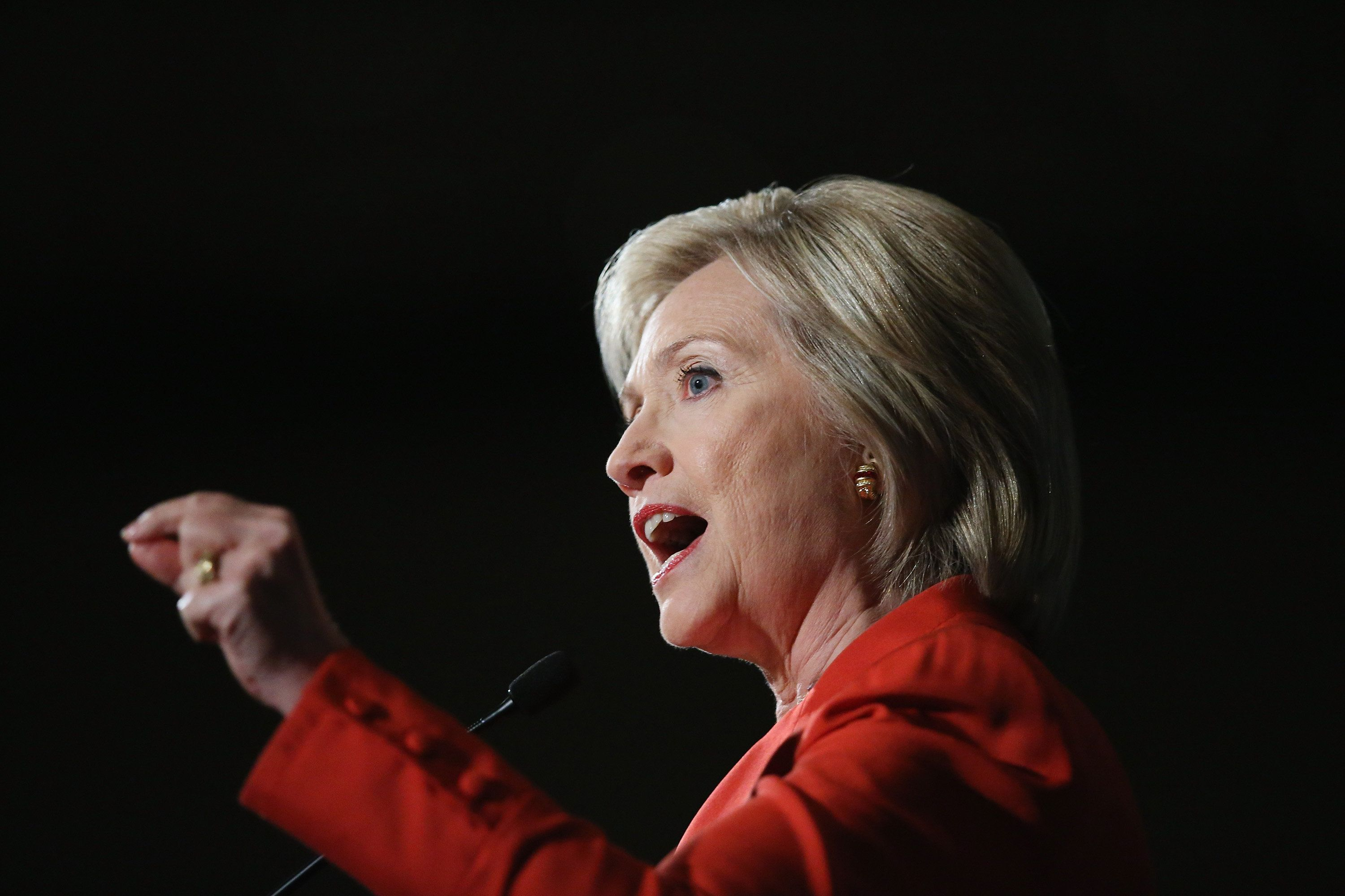 Democratic presidential candidate Hillary Clinton did a Facebook Q&A Monday afternoon.