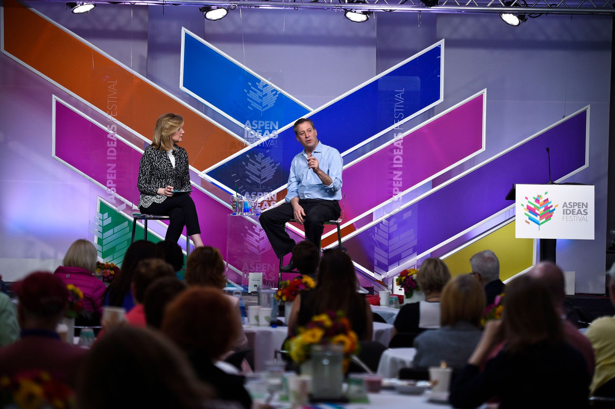 Arianna Huffington and Tony Marx at the 11th annual Aspen Ideas Festival in June 2015.