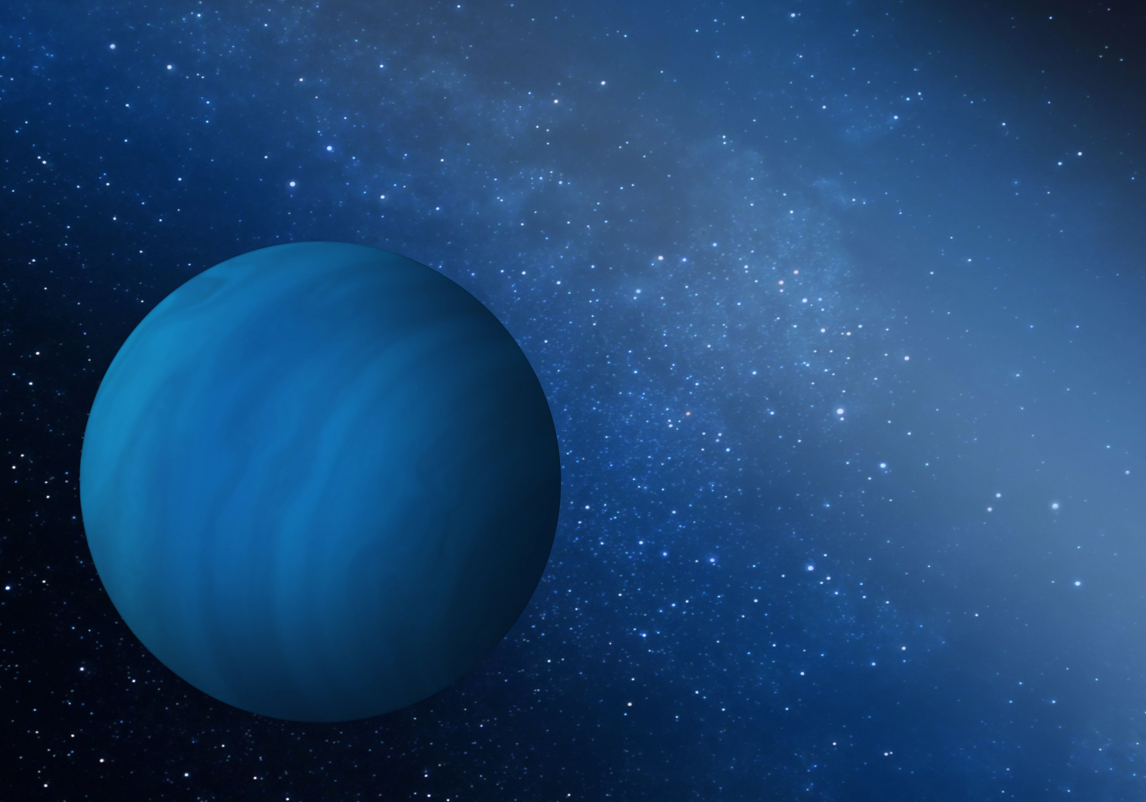Artist's impression of the missing gas giant planet that may have been ejected from the early solar system.