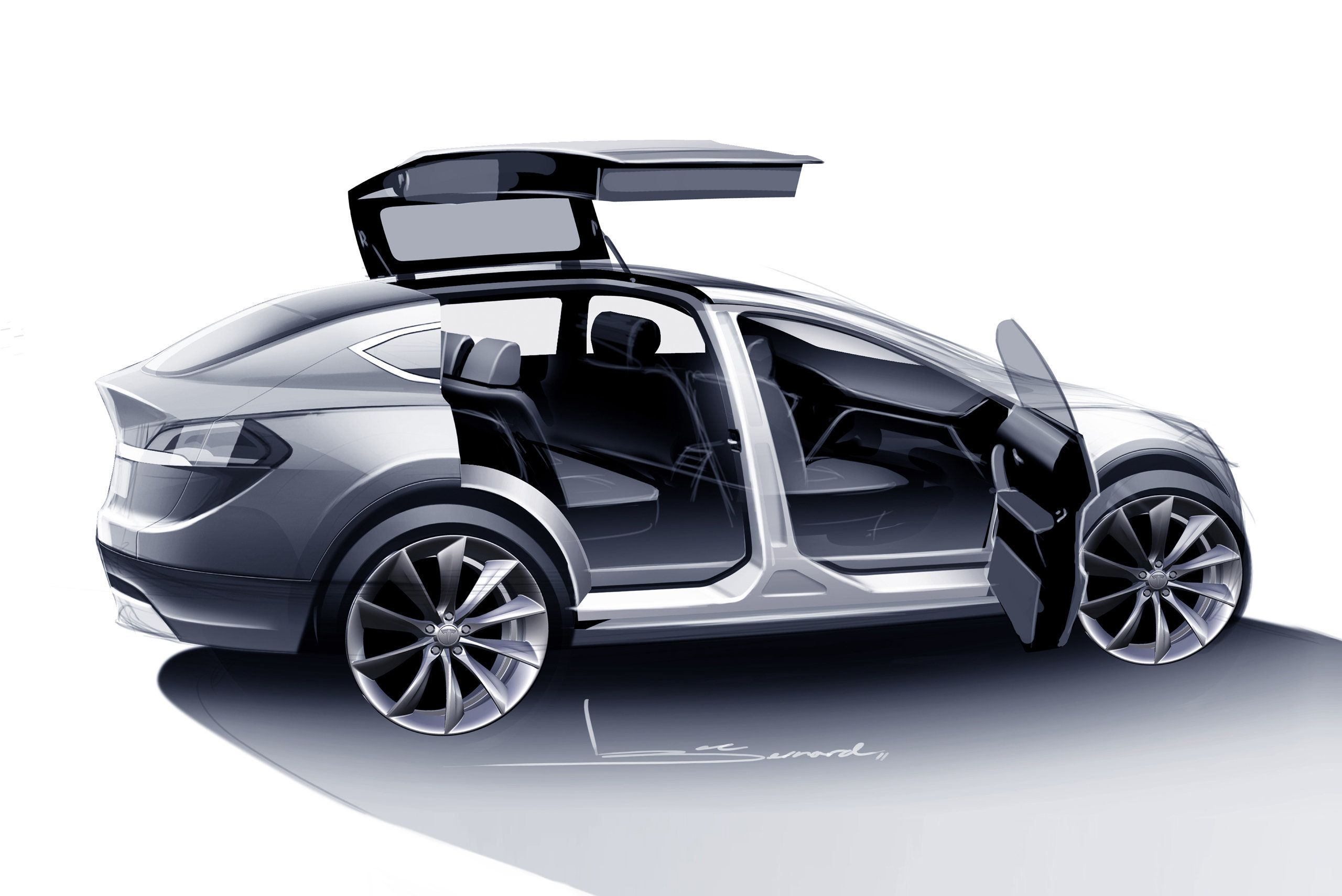 """<span class='image-component__caption' itemprop=""""caption"""">The """"falcon doors"""" on Tesla's new Model X.</span>"""