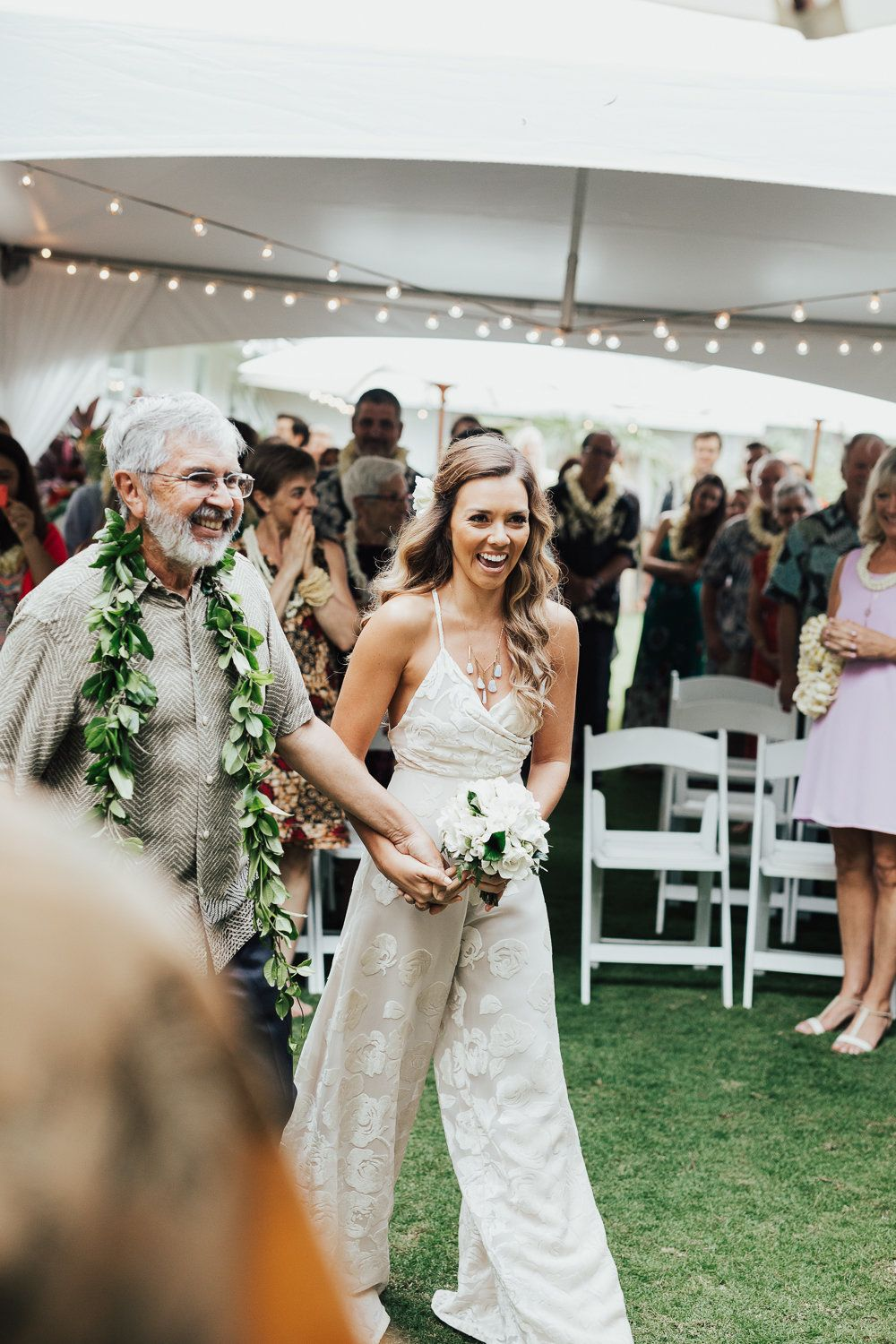 16 Fierce Wedding Jumpsuits For Brides Who Dont Do