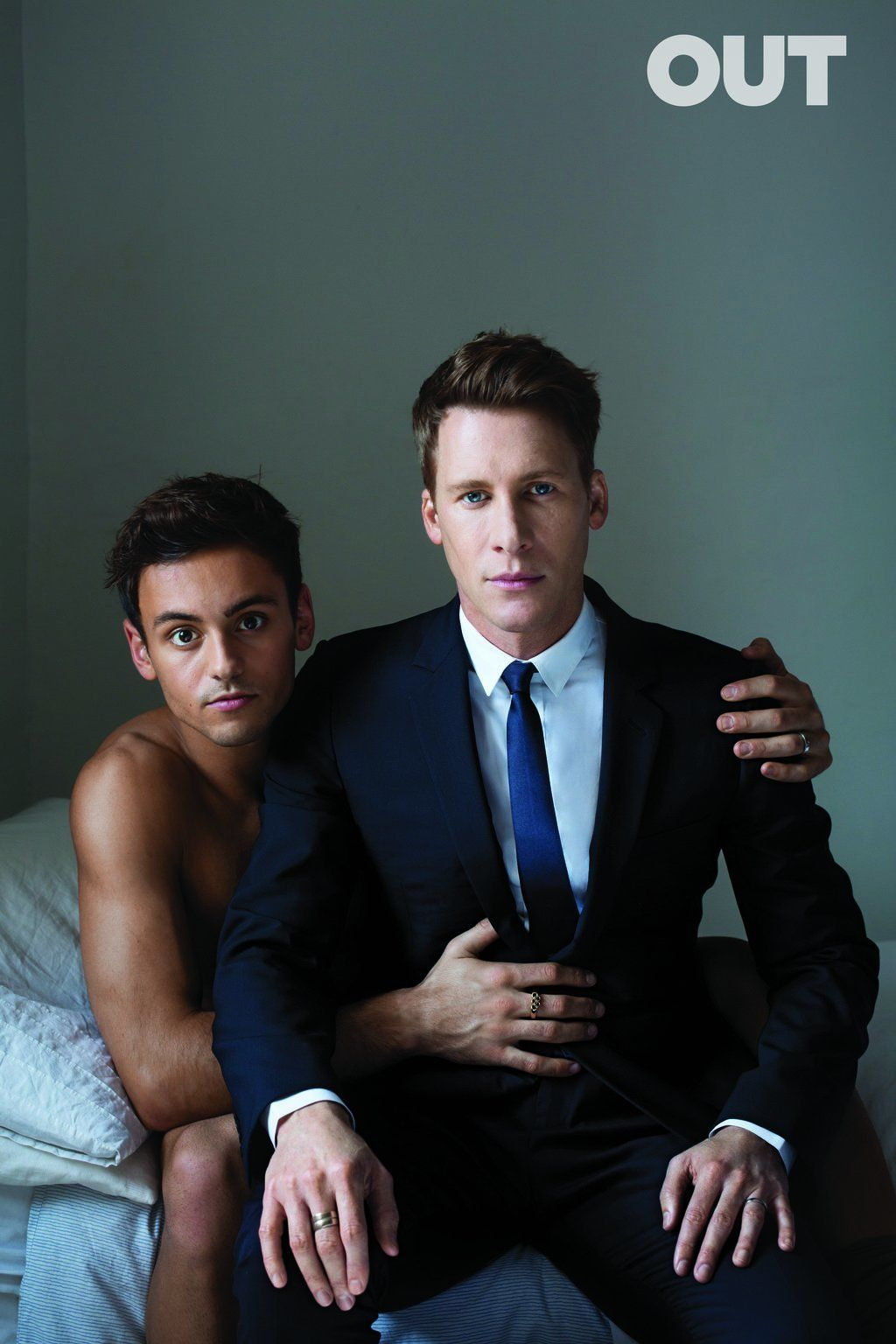 Tom Daley And Dustin Lance Black Cozy Up For Out Magazine