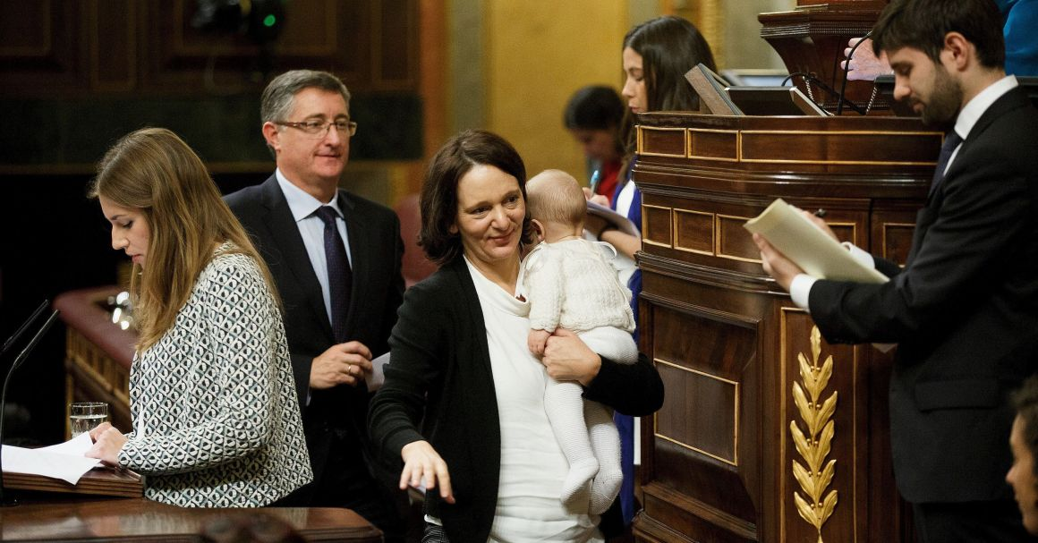 Spanish Politician Causes Stir After Breastfeeding her Baby In Parliament.