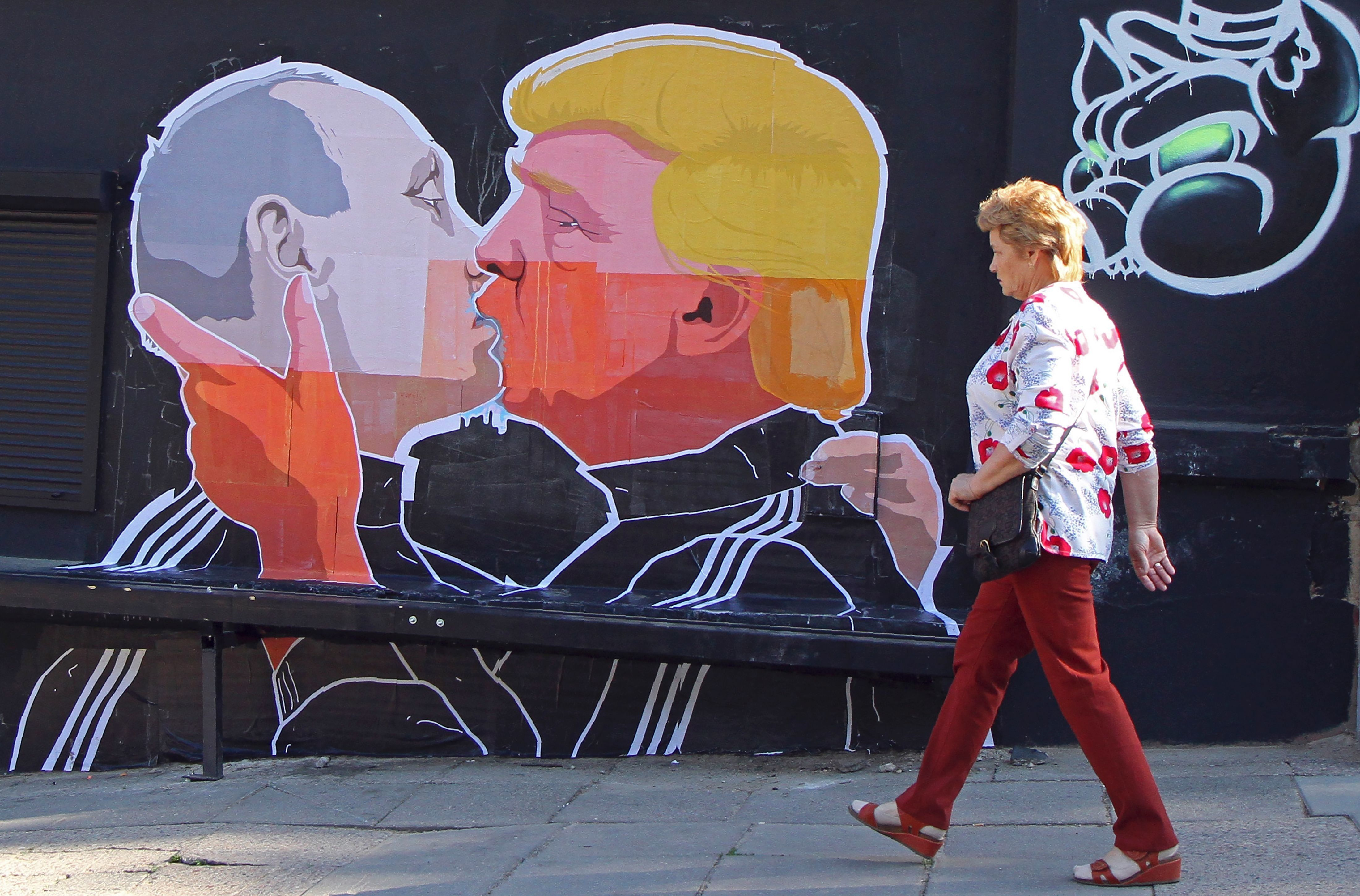 Image result for putin making out with trump