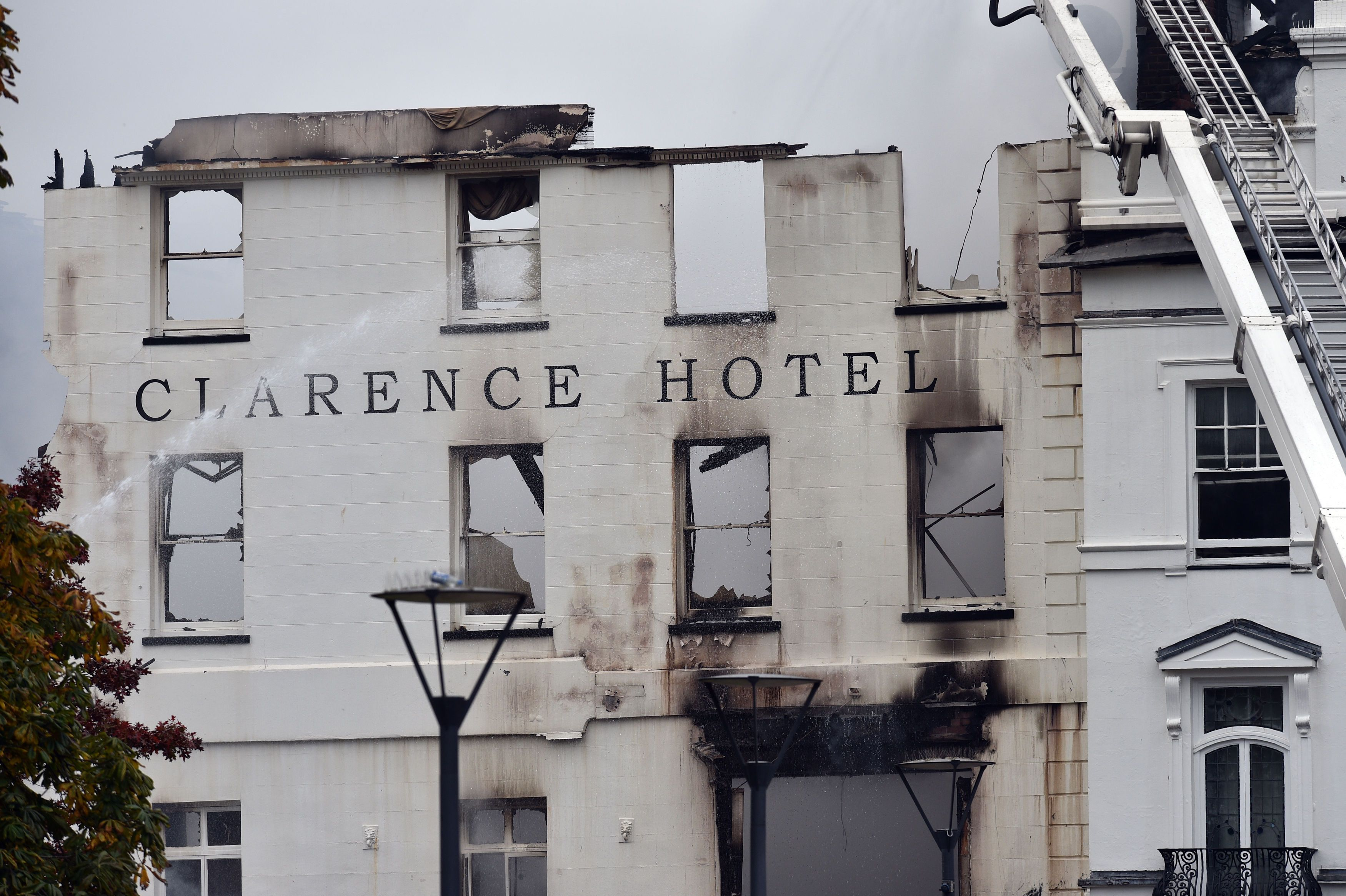 Royal Clarence Hotel Fire In Exeter Rages Fears