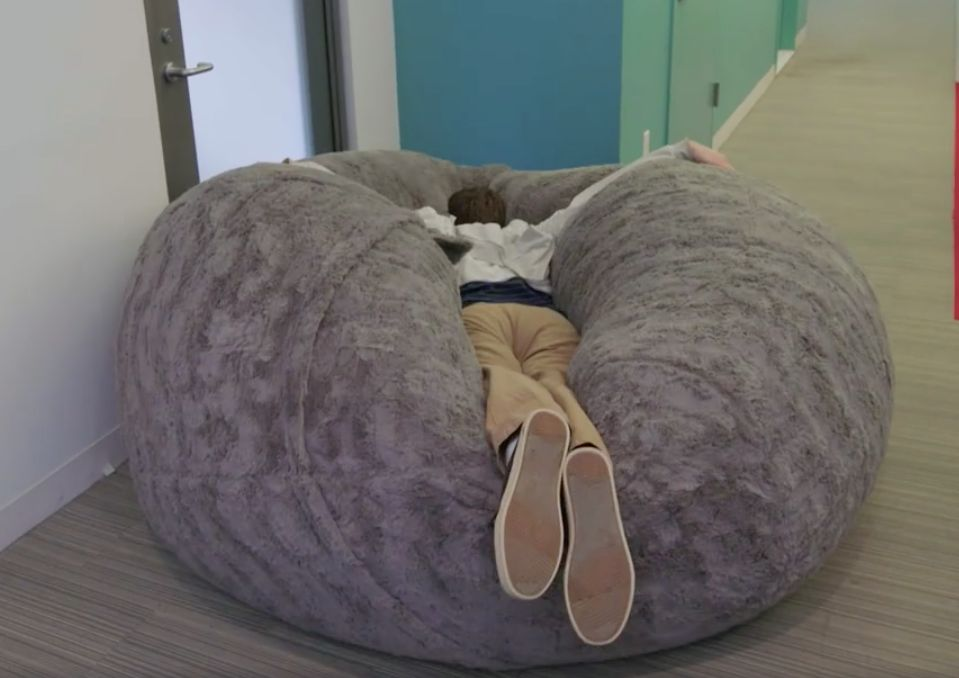 Ll Bean Bean Bag Chair The Giant Multi Person Pillow You 39ll Want To Dive Into On