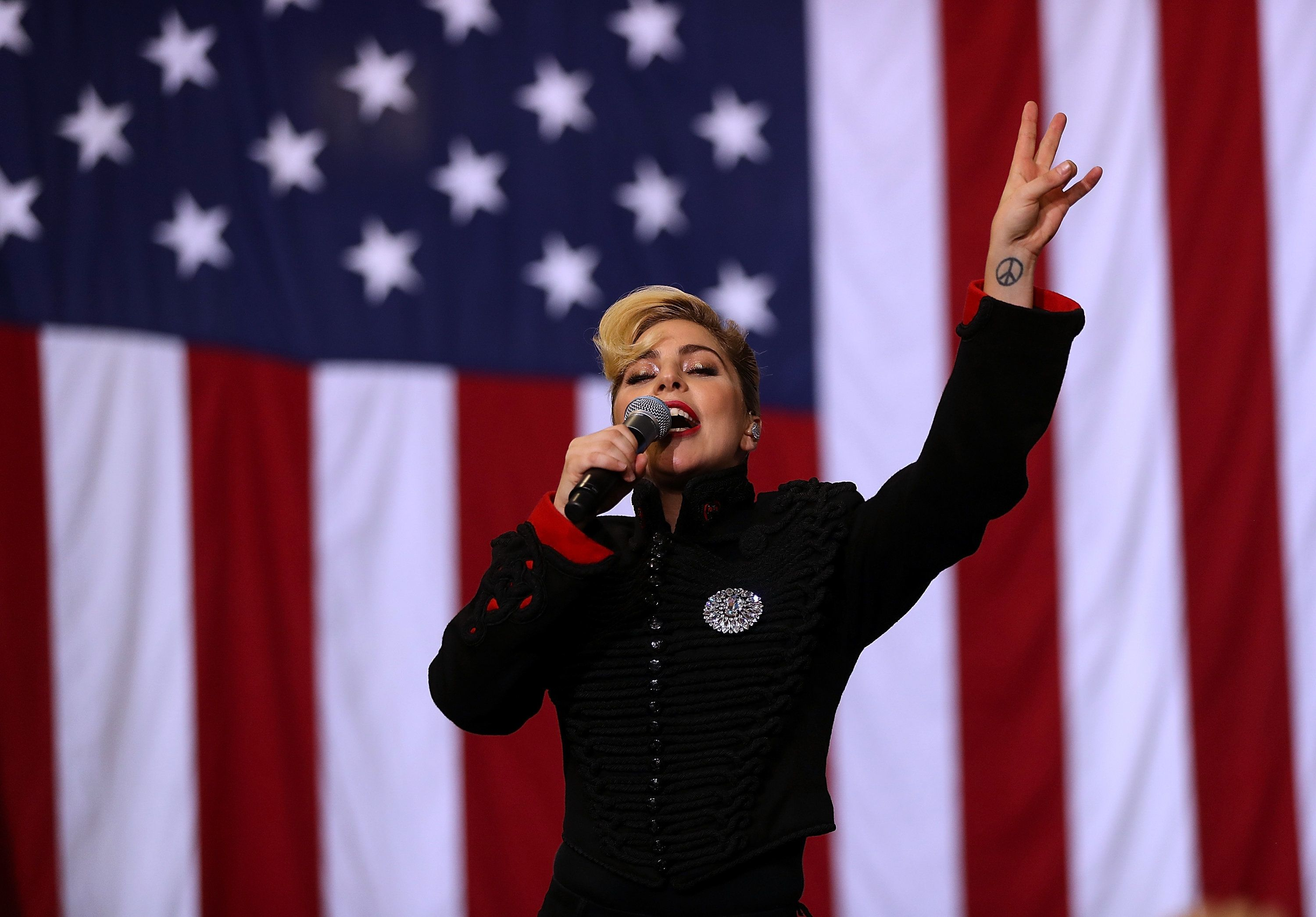 Image result for lady ga ga nazi salute