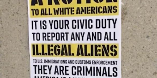 Image result for Racist Posters Promoting White Supremacy Plague College Campuses