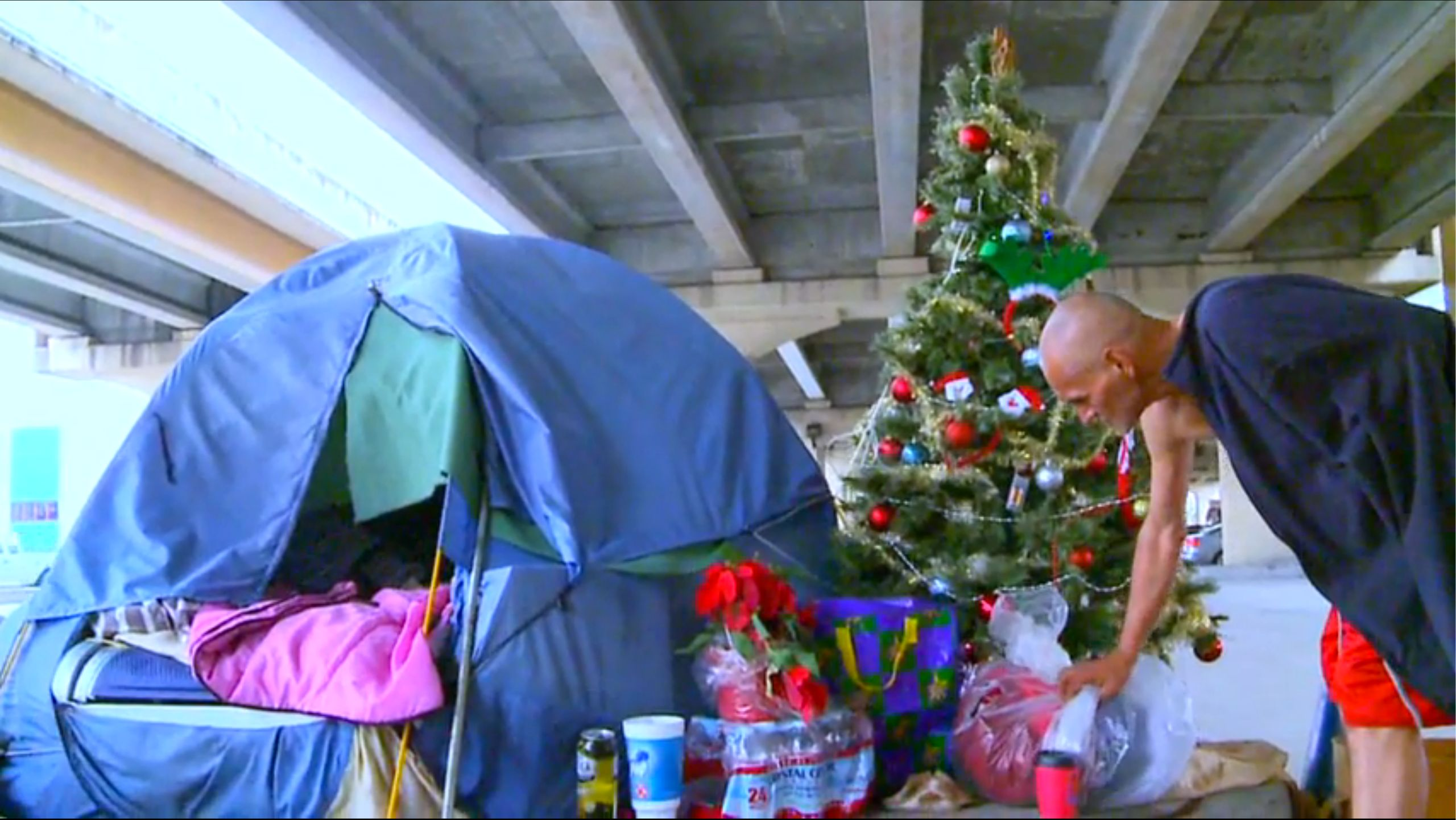 Image for After City Threw Away Homeless Man's Christmas Tree, Community Had Best Response
