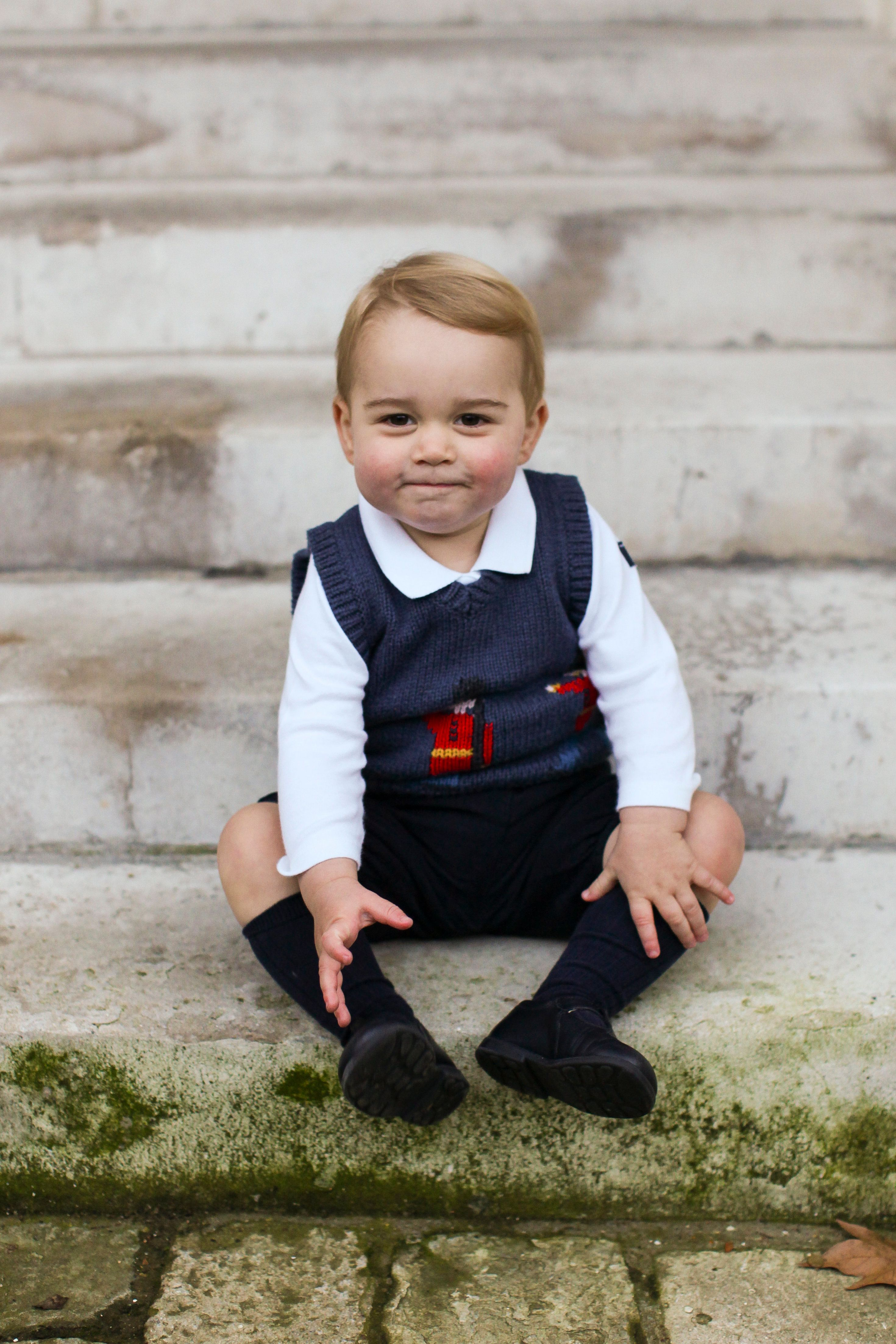 Prince George in an official Christmas portrait, taken at Kensington Palace and released Dec. 2014.
