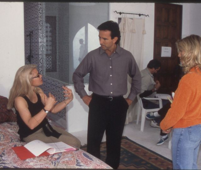 Candida Royalle At Work Directing The 1998 Film Eyes Of Desire