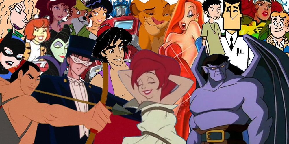 27 cartoon characters who