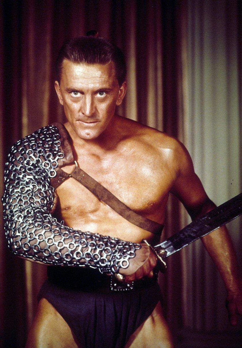 Kirk Douglas as Spartacus, his most famous role.