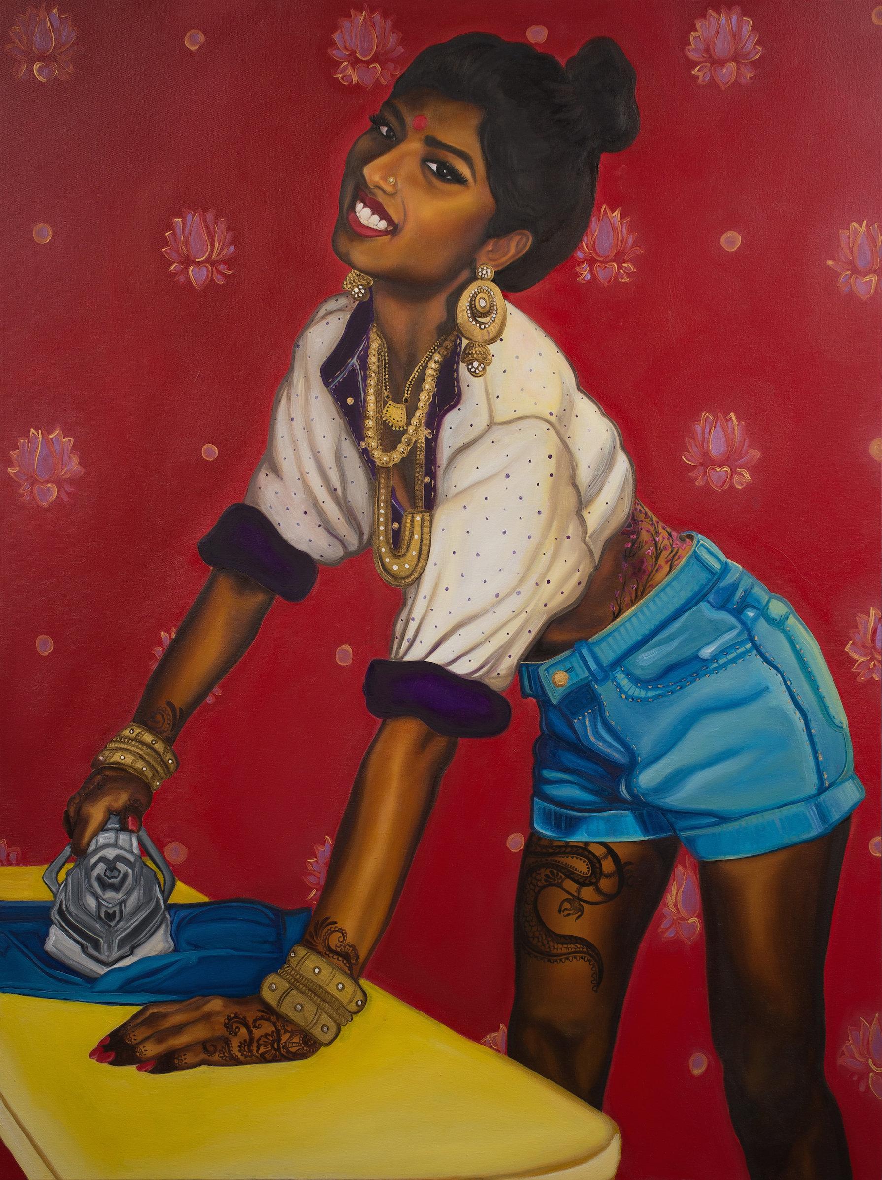 Feminist Artist Paints Indian Women Badass Pinup Models Huffpost