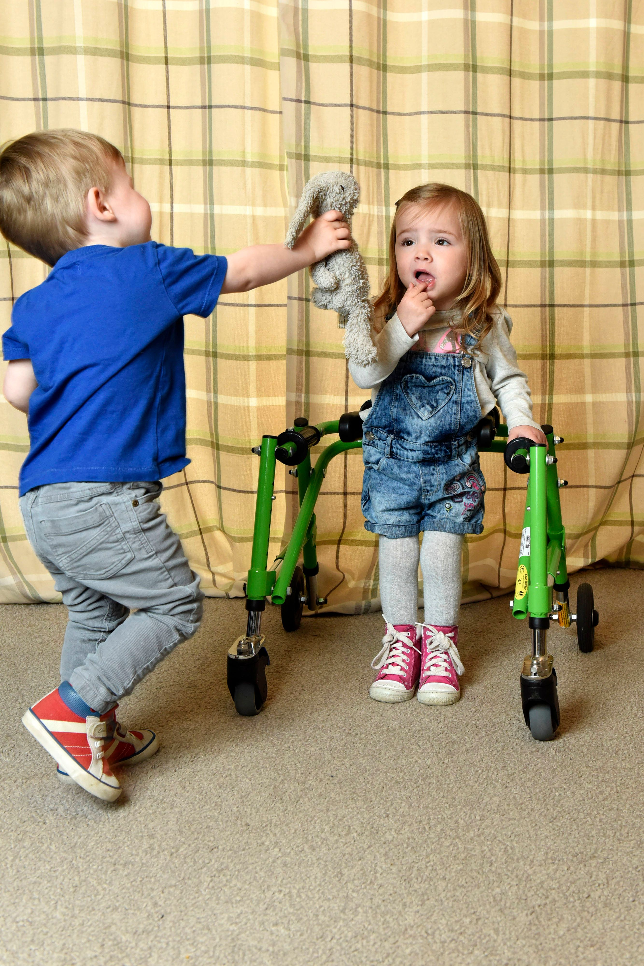 Toddler Dedicated To Guiding His Twin Sister With Cerebral