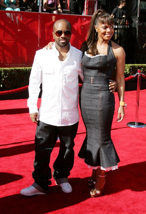 With Jermaine Dupri at the ESPY Awards in Hollywood.