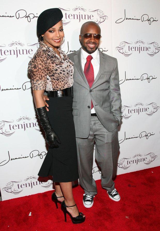 With Jermaine DupriatDupri's 36th birthday party in New York City.