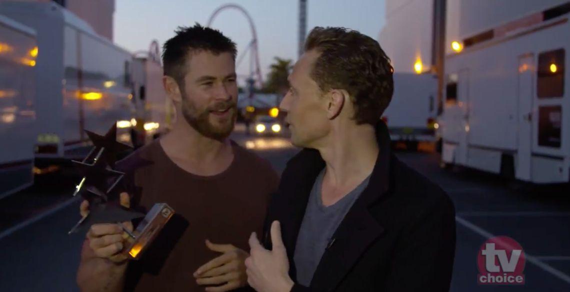 Tom Hiddleston's A-List Co-Stars Crash His TV Choice Video Acceptance Speech
