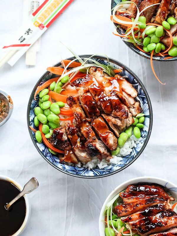 """<strong>Get the <a href=""""http://www.foodiecrush.com/teriyaki-chicken-rice-bowls/"""" target=""""_blank"""">Teriyaki Chicken Rice Bowl"""