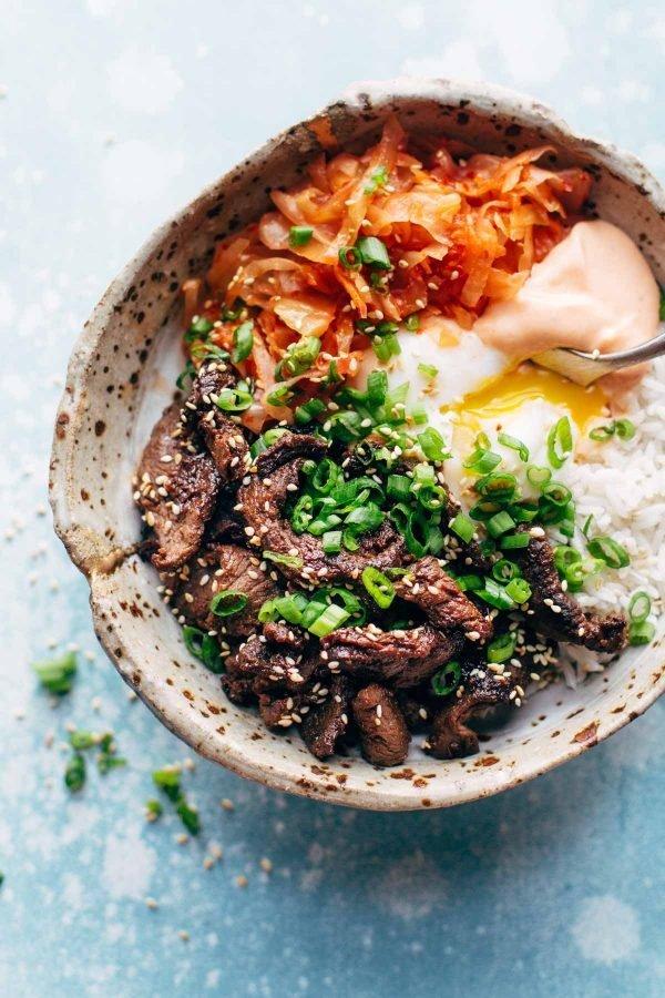"<strong>Get the <a href=""http://pinchofyum.com/yum-yum-rice-bowls"" target=""_blank"">Korean Beef Rice Bowl recipe</a>&nbsp;from"